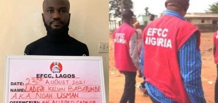 EFCC arrests a man who impersonated them to defraud 'yahoo boys'.