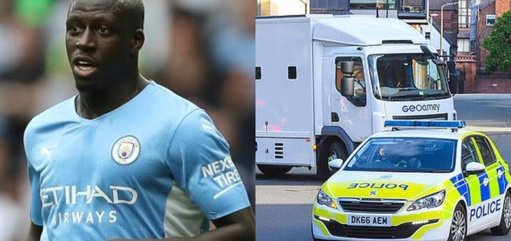 Manchester City's Benjamin Mendy arrives court in prison van, to face rape charges against three women