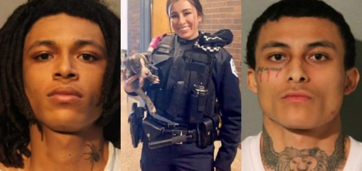 Photos of the two brothers, 21 and 22, charged over murder of female Chicago Cop