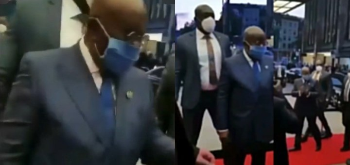 """""""Fix the country so we can come back home"""" - Ghanaians in Germany confront their president during his visit to the country (Video)"""