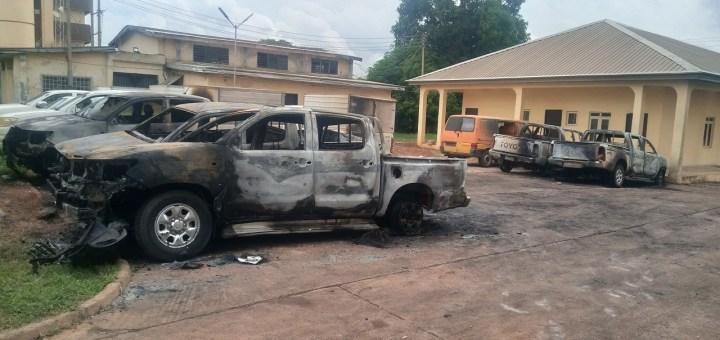 INEC office in Enugu burnt by Hoodlums
