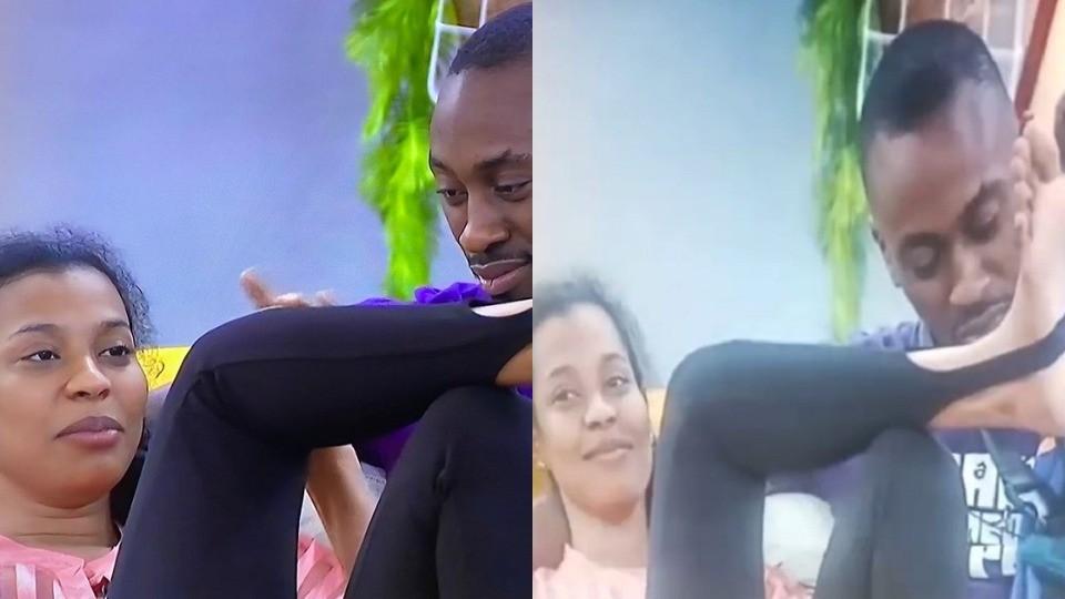 "#BBNaija 2021: Saga's reaction when Nini told him ""my boyfriend will be proud of me"" (Video)"