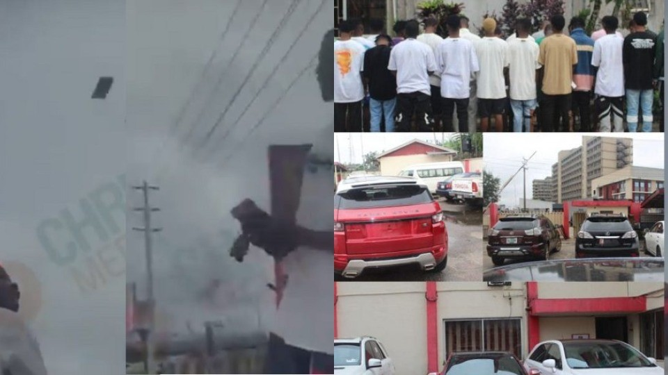 Naira-spraying suspected Yahoo Boys arrested in Benin