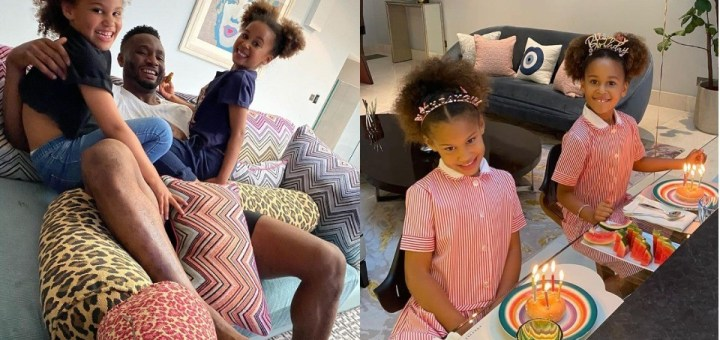 Mikel Obi celebrates his twin daughters on their 6th birthday