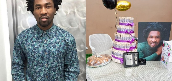 #BBNaija 2021: Former housemate, Boma's fans show their genuine love for him with a tray of small chops, customized flask among other gift items