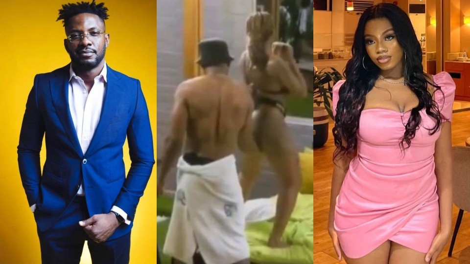 #BBNaija 2021: Video of Cross fing*ring Angel and other housemates carrying out sensual acts surfaces