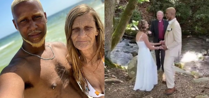 61-year-old grandma and 24-year-old fiancée whose engagement went viral finally wed (Photos)