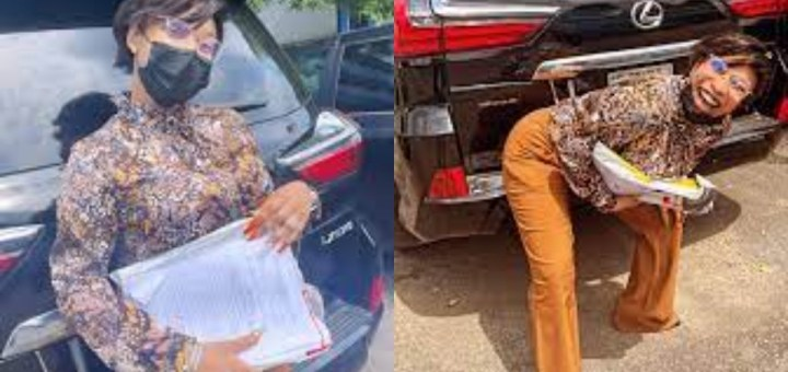 """""""I never f*cked anyone over who didn't have it coming"""" – Actress, Tonto Dikeh says as she poses with the Lexus SUV she allegedly seized from Prince Kpokpogri"""