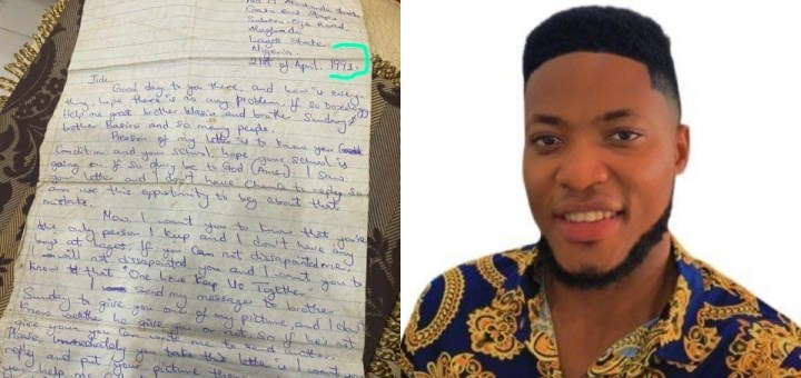 Man stumbles on mother's apology letter to father after 28 years