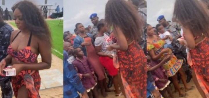 """""""Keep the camera at home"""" - Nigerians react to video of BBNaija star TolaniBaj sharing money at a Lagos Beach"""