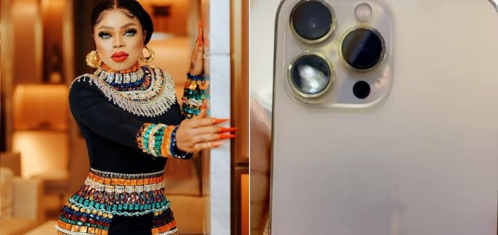 Crossdresser, Bobrisky shows off newly acquired iPhone 13 (Video)