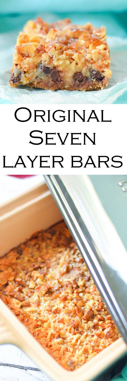 "Classic Seven Layer Bars Recipe w. Butterscotch, Coconut, + Graham Cracker Crust #dessert #traditionalrecipes #bars #cookies #cookierecipes #cookiebars #recipes #foodblogger #foodblog"""