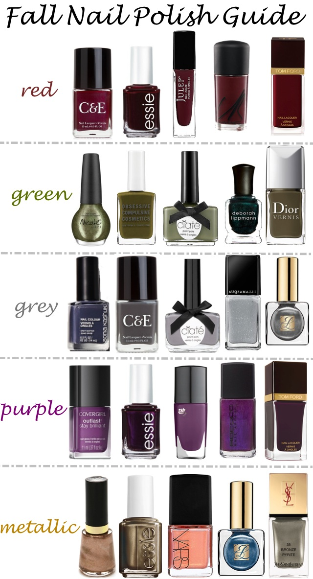 Fall Nail Polish Colors #fallfashion #fallstyle #nailpolish #nailcolors #nailart #beauty #beautytips #fallcolors