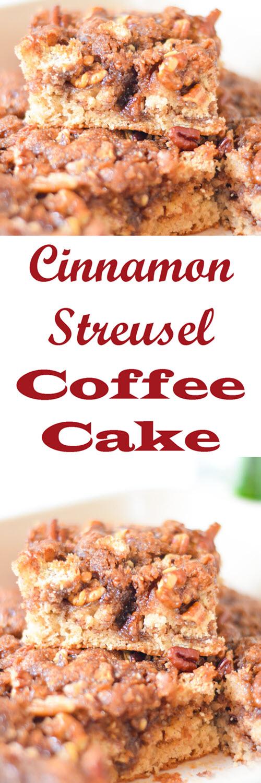Homemade Cinnamon Coffee Cake with Streusel Crumb Topping #recipe #lmrecipes #foodblog #foodblogger #coffeecake #streusel #breakfast #brunch #baking #cinnamonrecipes