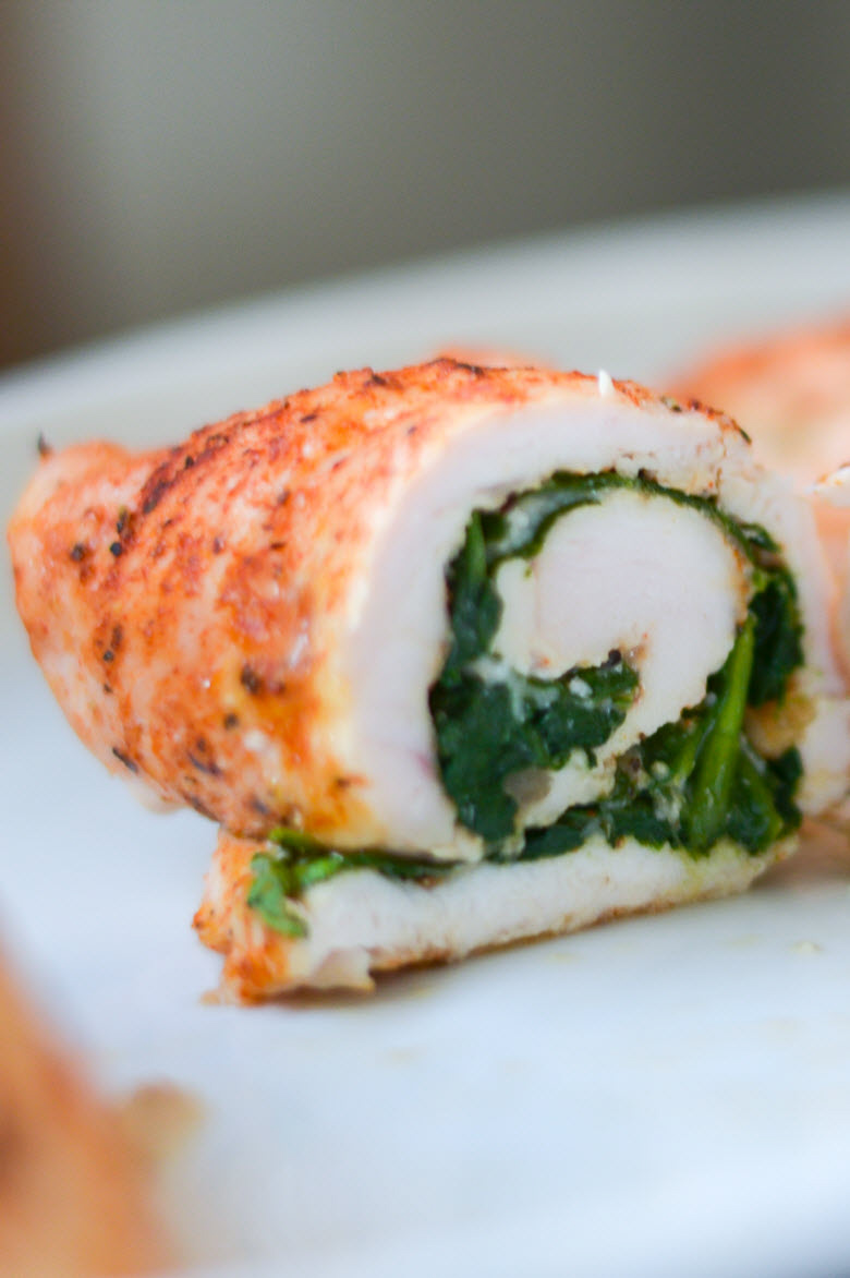 Healthy Baked Chicken Parmesan Roll Up