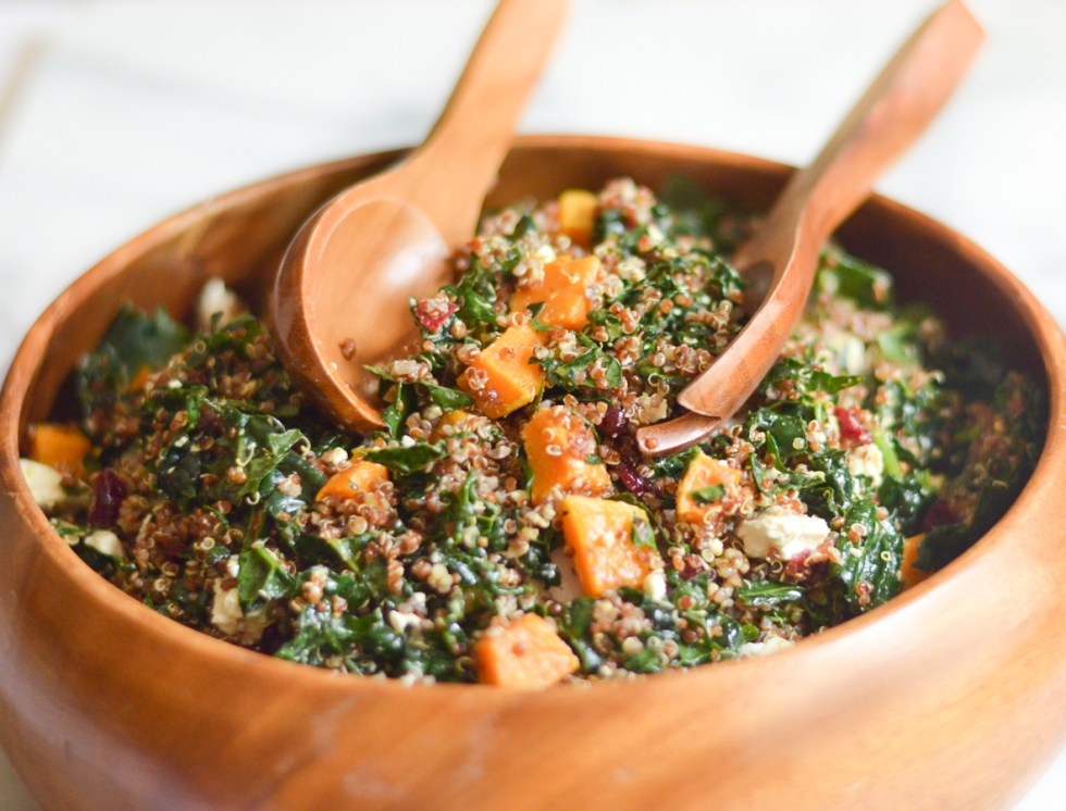 Squash Quinoa Kale Salad