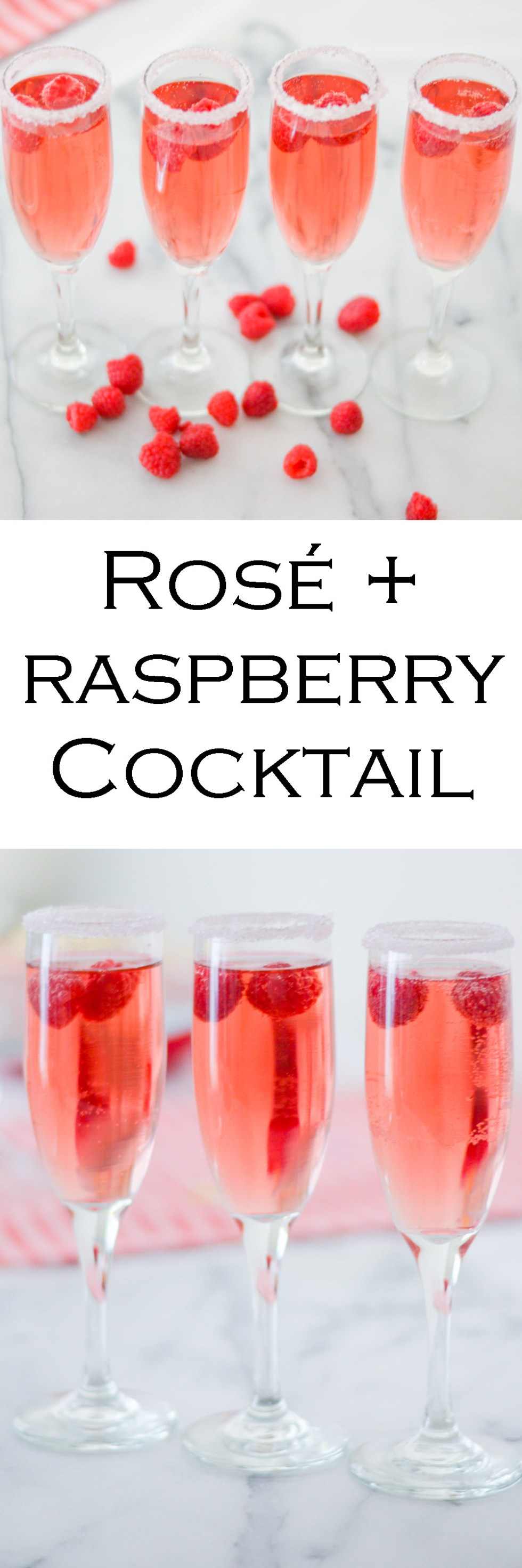 Easy Galentine's Day Rose Raspberry Cocktail