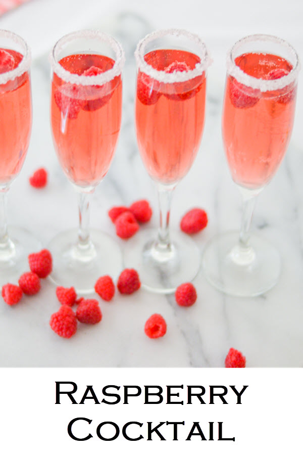 Easy Raspberry cocktail with rose. This pink, red drink recipe is perfect for Galentine's Day and Valentines! #LMrecipes #drinks #drinkrecipe #cocktail #rosewine #raspberry #valentinesday #galentinesday #recipe #mixology #cocktailhour