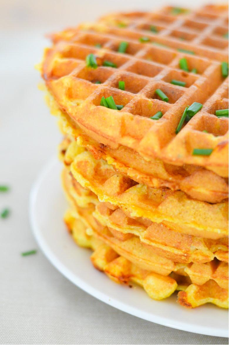 Cheddar + Chive Cornmeal Waffles