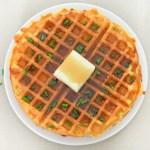 Savory Cornmeal Waffles - Cheddar + Chive