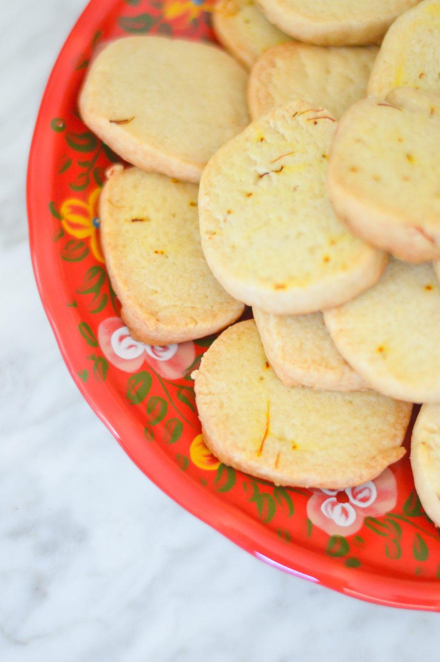 Saffron Shortbread Cookies