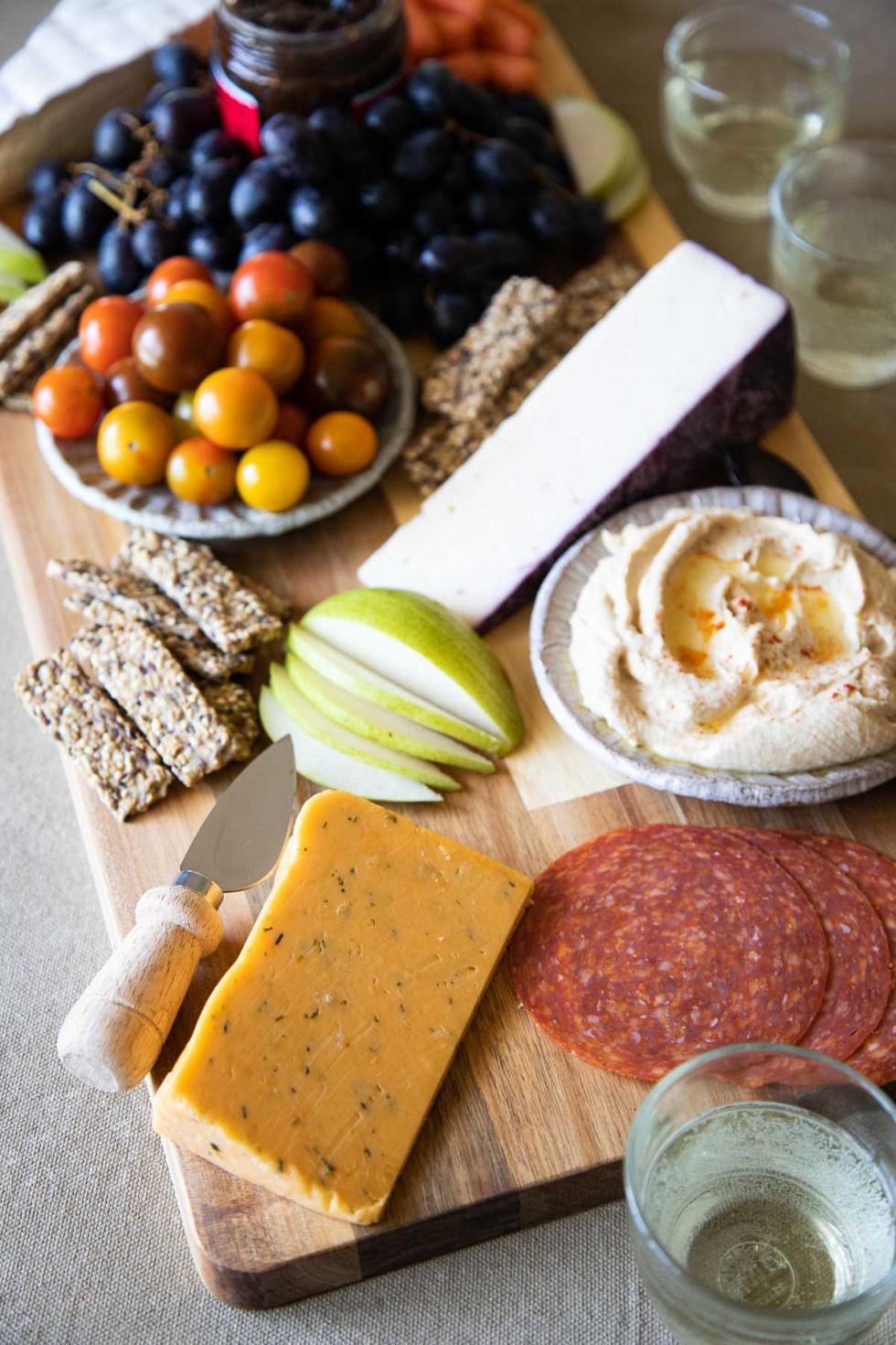 Trader Joe's Charcuterie Appetizer Board - Items On Board