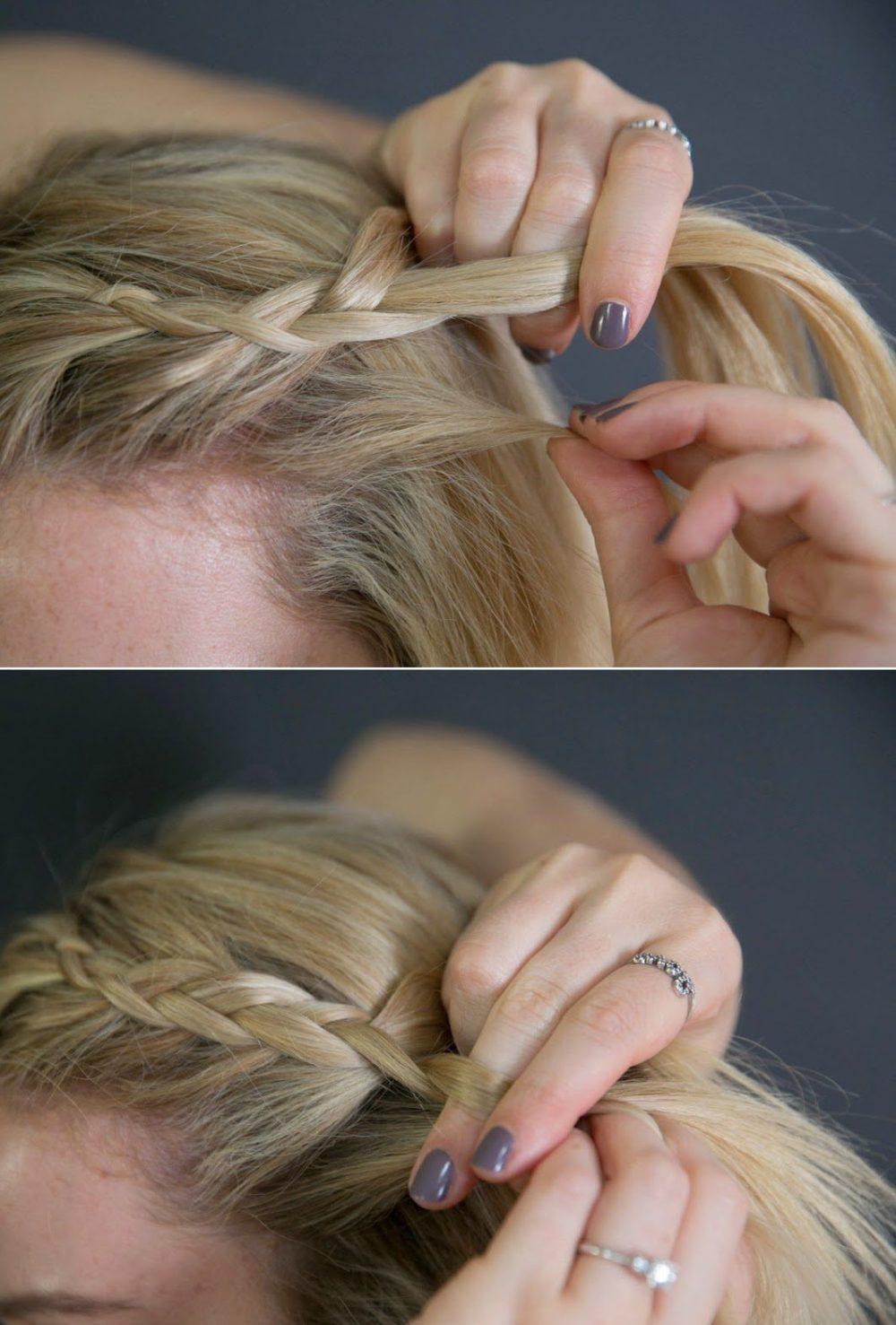 Easy Braided Hairdo Tutorial
