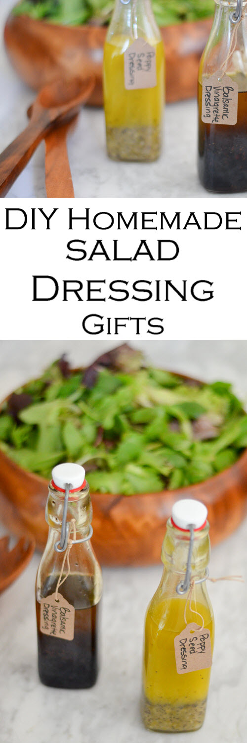 Homemade Salad Dressing Recipes. Get the easy recipes for balsamic vinaigrette and sweet poppy seed dressing. Great in your own kitchen or as DIY Homemade Food Gifts. #LMrecipes #salad #healthy #homemade #homemadegift #homemaking #unprocessed #foodblog #foodblogger