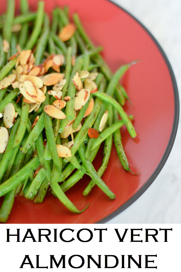 Hericot Vert Almondine. What are hericot vert? They're basically green beans. This almondine recipe is simple and easy. A great holiday meal side dish. #LMrecipes #vegetables #greenbeans #sidedish #plantbased #vegan #vegetarian #healthy #chirstmasdinner #thanksgiving #thanksgivingdish #foodblog