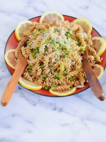 Can Tuna Dinner Recipe | Garlic Lemon Pasta