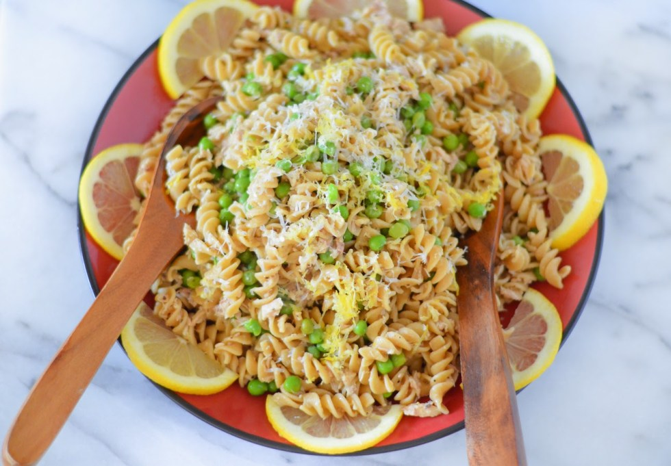 Garlic Lemon Pasta with Tuna