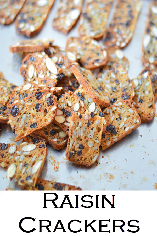 Trader Joe's Raisin Crackers. A fun Trader Joe's copycate recipe for delicious nut & seed crackers. These raisin crackers with rosemary are great on their own or with a spread!
