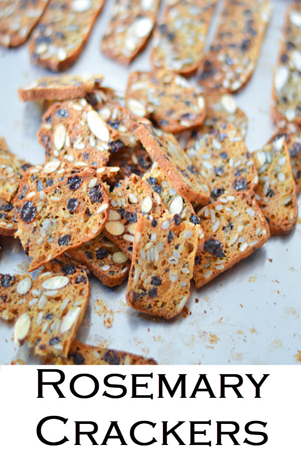 Trader Joe's Rosemary Crackers. A fun Trader Joe's copycate recipe for delicious nut & seed crackers. These raisin crackers with rosemary are great on their own or with a spread!