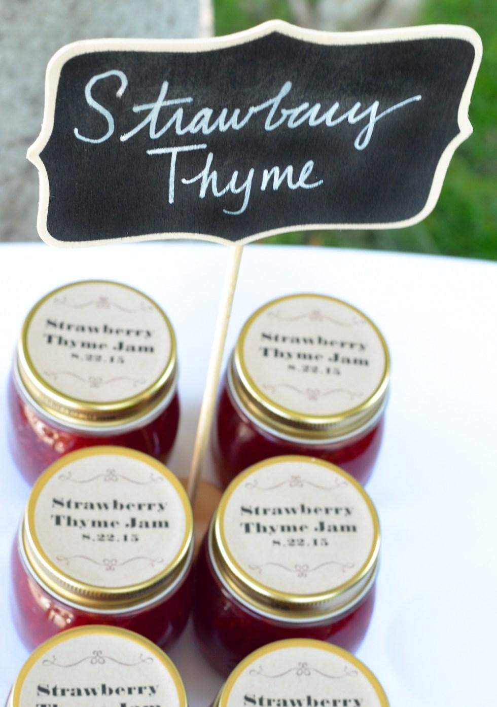 Strawberry Thyme Jam | Homemade Wedding Favors