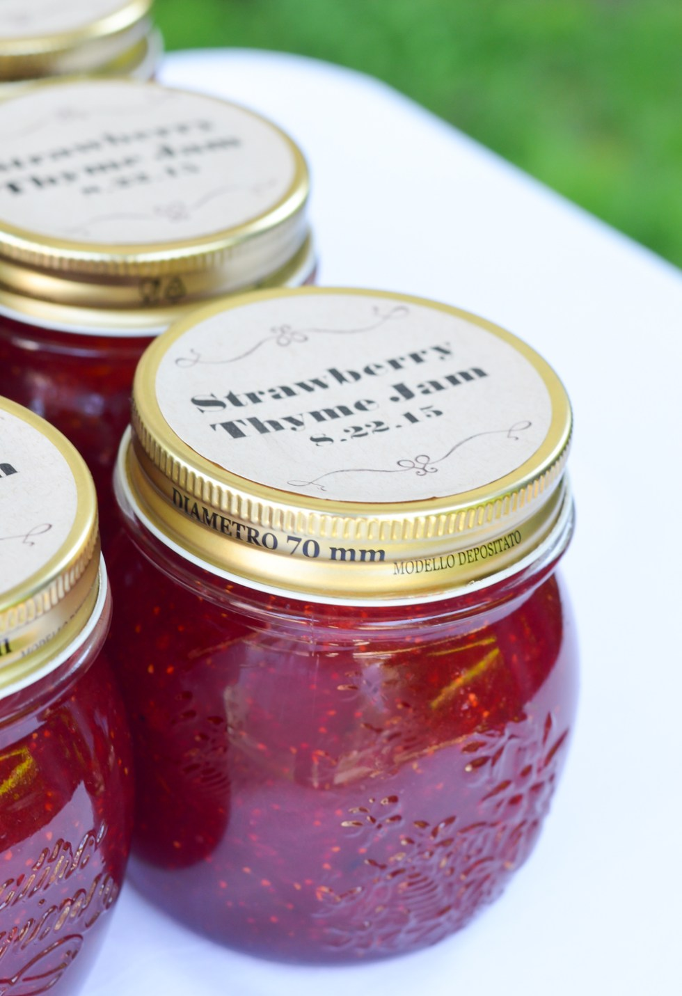 Strawberry Thyme Jam | Homemade Wedding Favors
