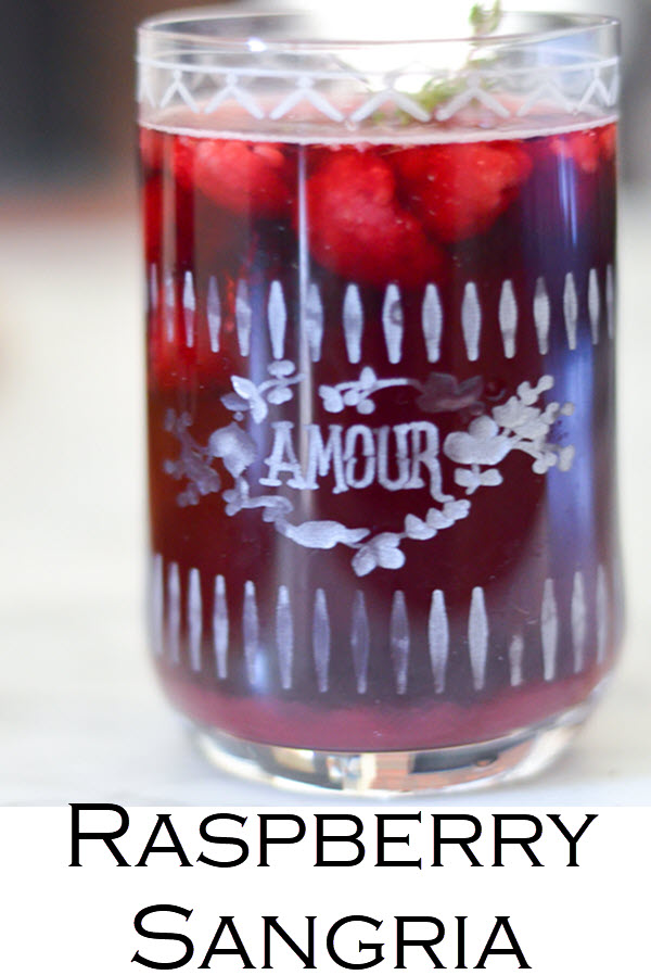 Raspberry Sangria with Red Wine. A delicious year round red wine sangria with frozen or fresh raspberries. This cabernet sangria recipe is easy and delicious.