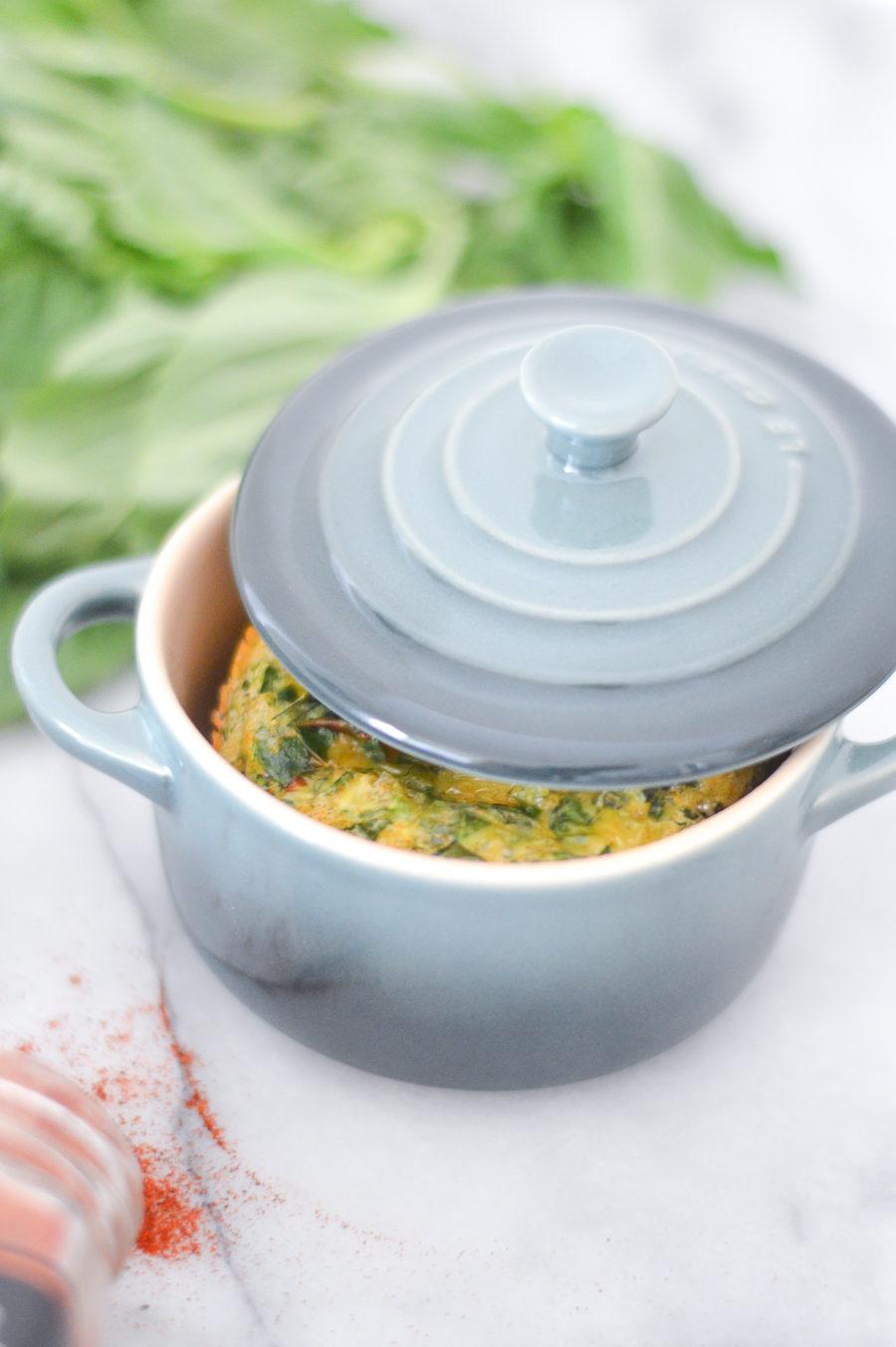 Basil + Greens Egg Soufflé