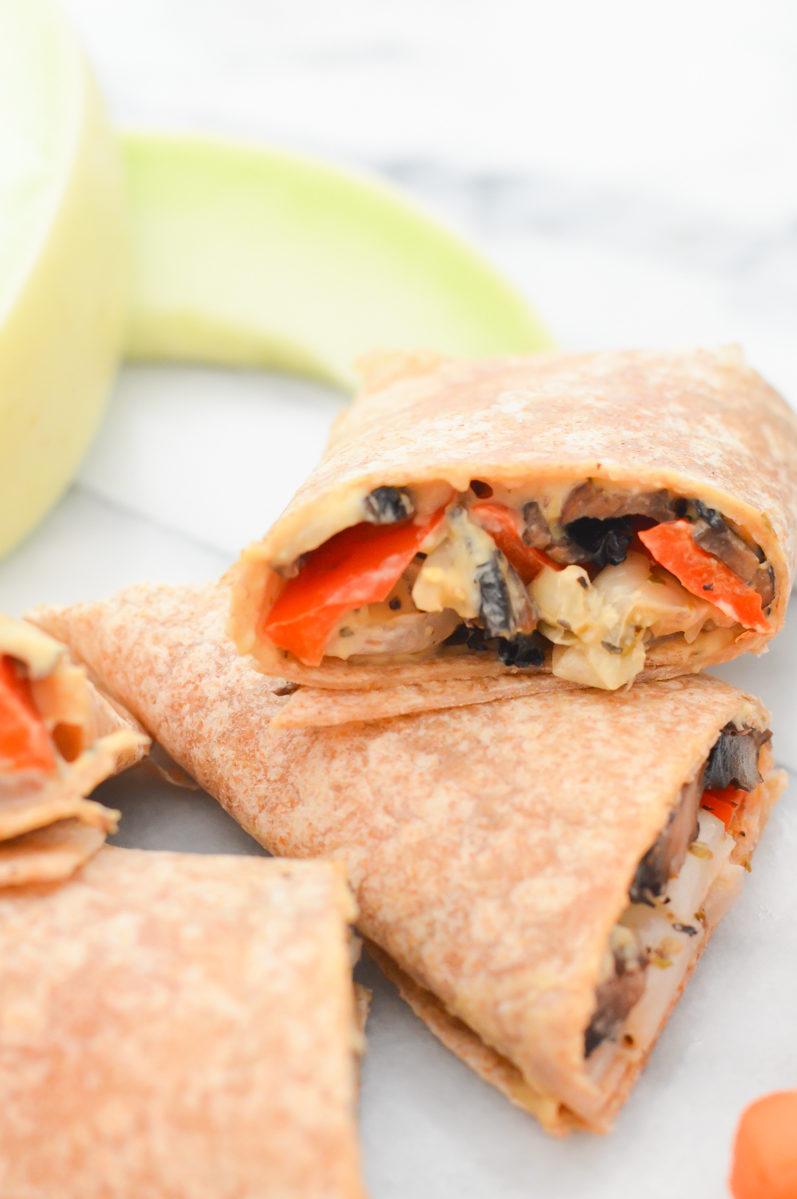 Hummus + Roasted Veggie Wrap