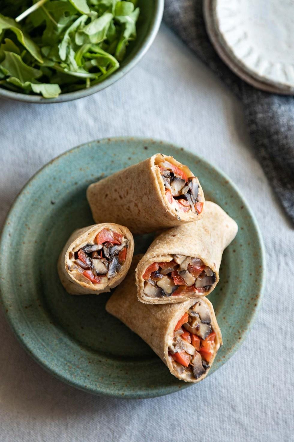 Hummus Wrap with roasted veggies