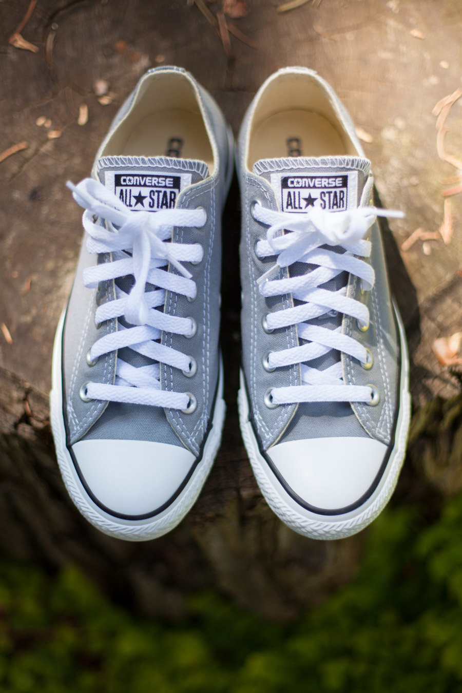 My Wedding Dress Story - Designing My Own Wedding Dress - Grey Chuck Taylor Converse - Wedding Shoes