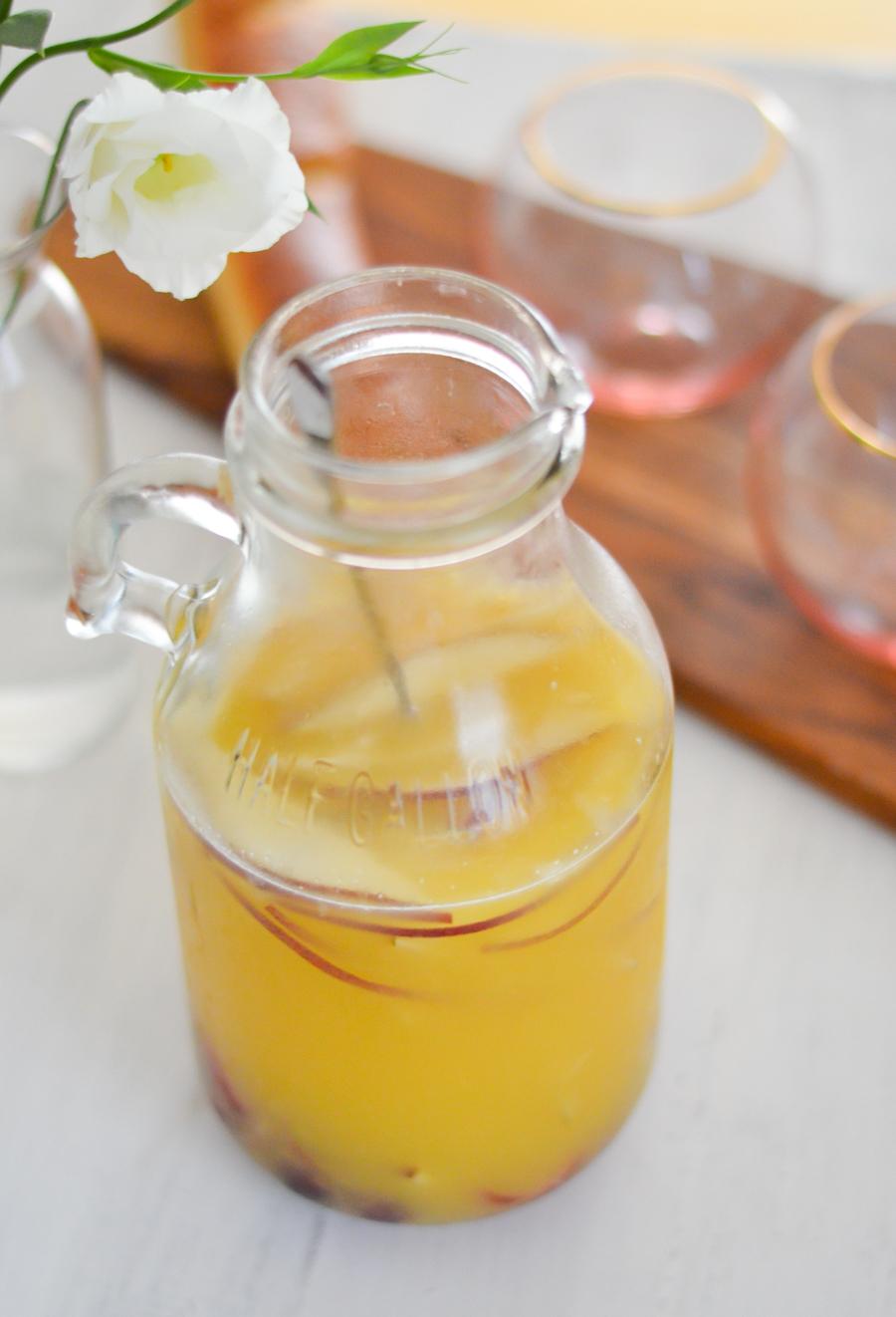 Brunch Sangria | Chardonnay Sangria w. Orange Juice + Fresh Fruit