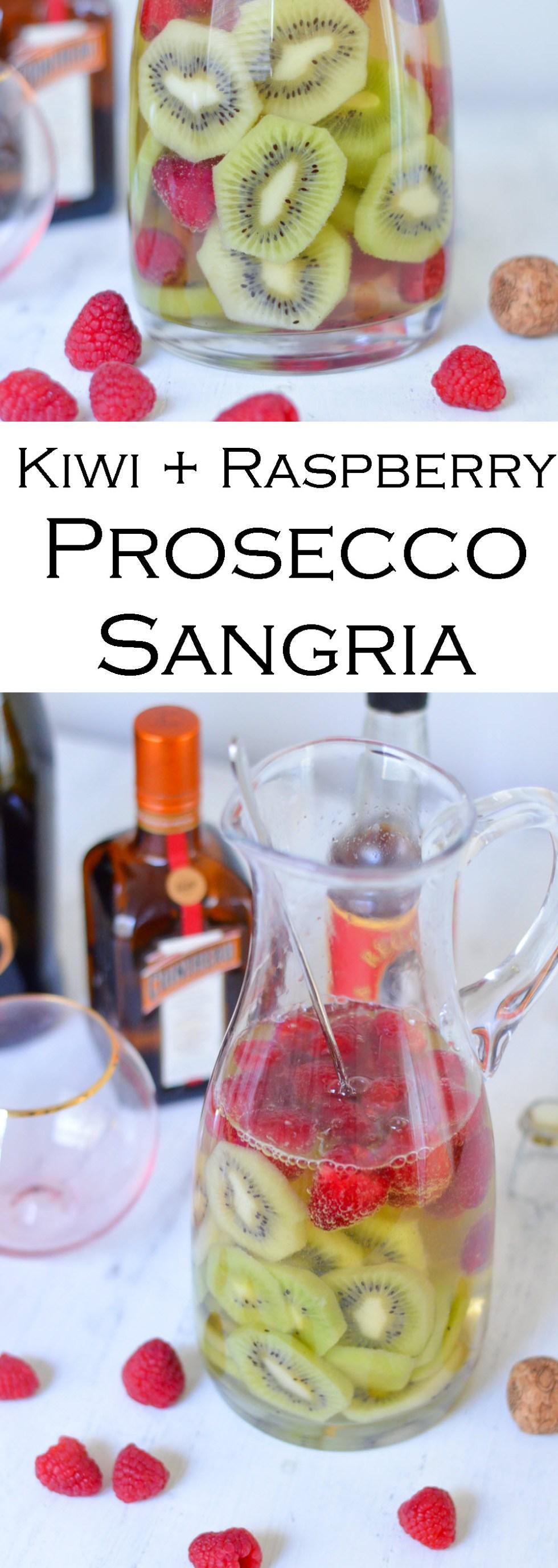 Kiwi Raspberry Prosecco Sangria