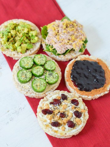 Healthy Rice Cake Snacks + Toppings