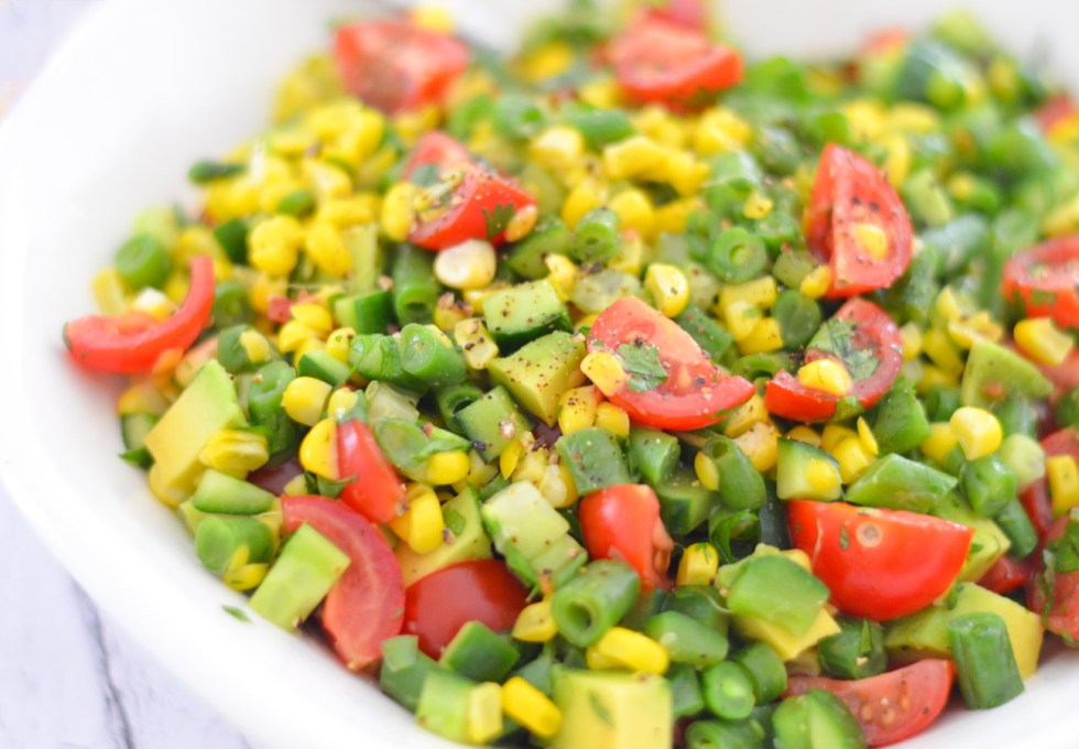 9 Healthy Summer Salads | California Succotash Salad w. Avocado