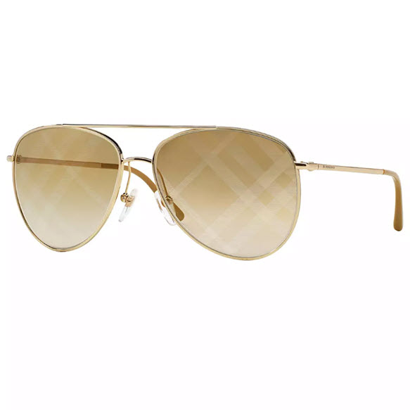 Burberry Stamped Aviator Sunglasses