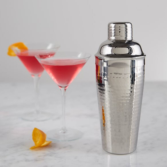 Stainless Steel Hammered Cocktail Shaker
