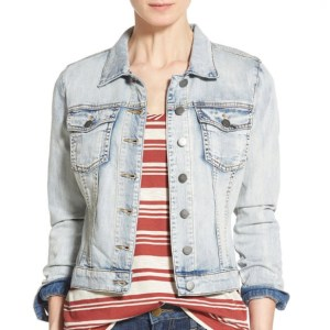 KUT from the Kloth Light Faded Denim Jacket
