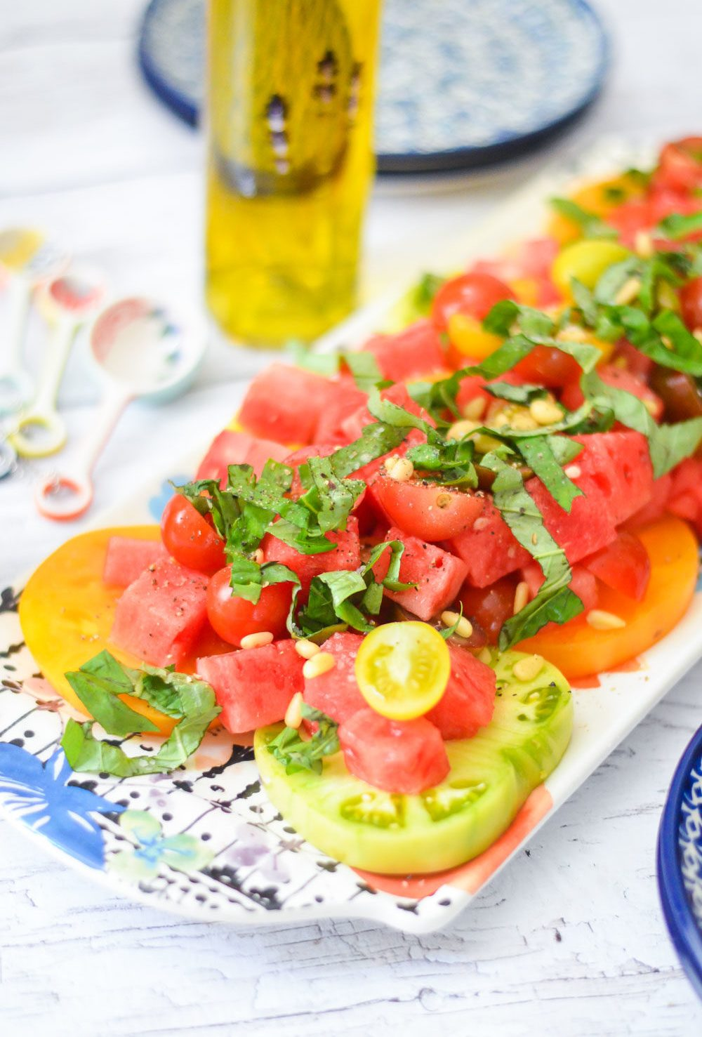 Heirloom Tomato, Basil, + Watermelon Salad