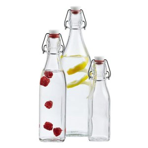 Square Hermetic Glass Bottles