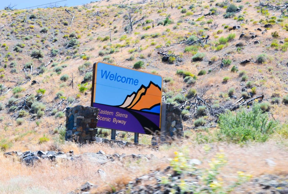 Highway 395 Photos Diary Reno, Nevada to Mono Lake, California | Eastern Sierra Scenic Byway Sign | Luci's Morsels :: California Travel Blogger